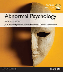Abnormal Psychology 17th 17E Global Jill Hooley PDF - Books with Benefits
