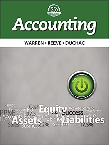 Accounting 25th Edition by Carl Warren PDF