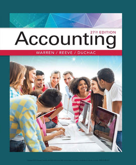 Accounting 27th Edition by Carl Warren PDF