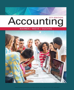 Accounting 27th Edition by Carl Warren PDF - Books with Benefits