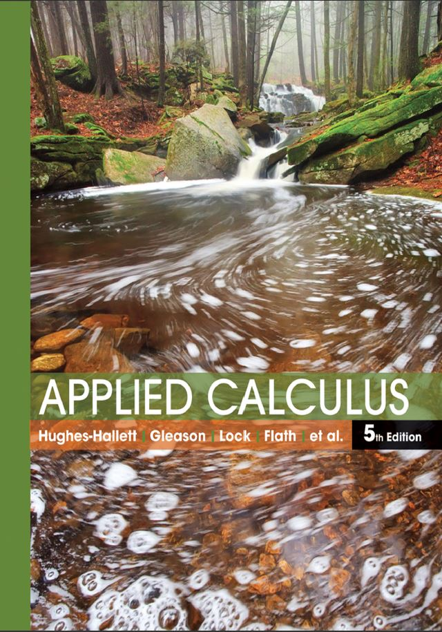 Applied Calculus 5th Edition by Deborah Hughes-Hallett PDF