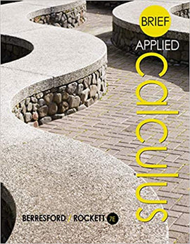 Applied Calculus 7th Edition by Geoffrey C. Berresford PDF