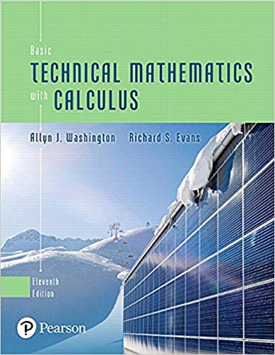 Basic Technical Mathematics with Calculus  11th Edition by Allyn J. Washington PDF - Books with Benefits