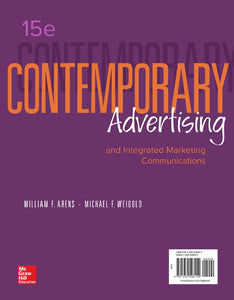 Contemporary Advertising and Integrated Marketing Communications 15th edition by William F Arens PDF - Books with Benefits