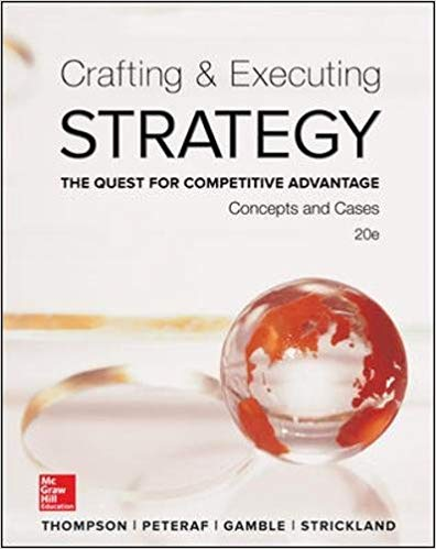 Crafting and Executing Strategy 20th 20E by Arthur A. Thompson  PDF