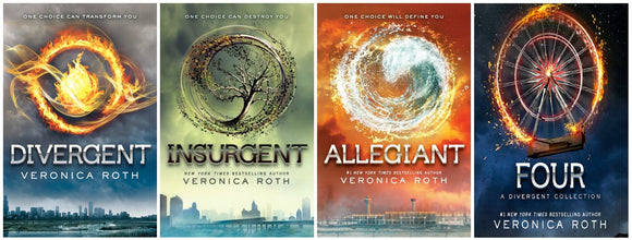 Divergent Series Four-Ebook Set: Divergent, Insurgent, Allegiant, Four Audiobook MP3 - Books with Benefits