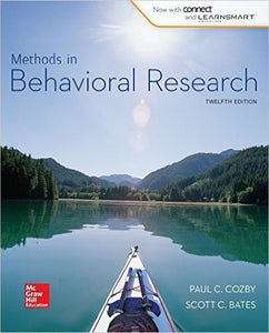 Methods in Behavioral Research 12th Edition by Paul Cozby PDF - Books with Benefits