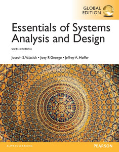Essentials of Systems Analysis and Design 6th 6E Global PDF - Books with Benefits