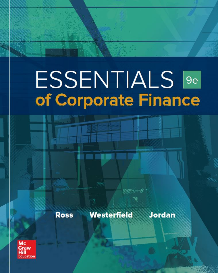 Essentials of Corporate Finance  9th Edition by Stephen A. Ross PDF