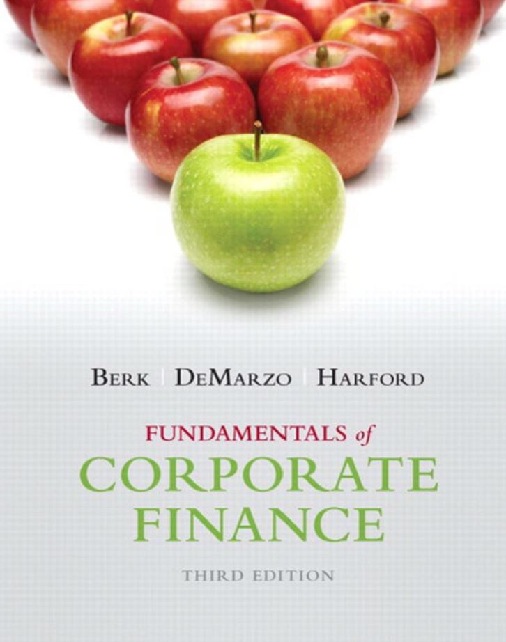 Fundamentals of Corporate Finance  3rd Edition by Jonathan Berk PDF