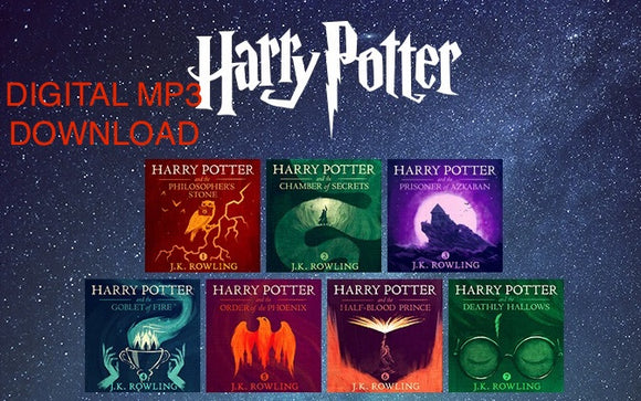 Harry Potter 1-7 Complete Audiobook Collection Set by J.K. Rowling  read by Jim  Dale  Download MP3 - Books with Benefits