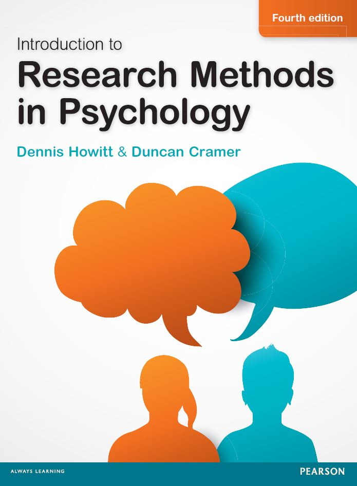 Introduction to Research Methods in Psychology, 4th Edition by Dennis Howitt PDF