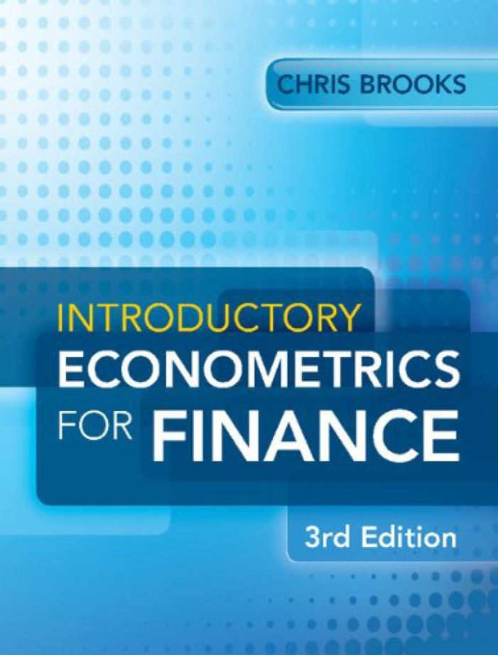 Introductory Econometrics for Finance 3rd 3E  by Chris Brooks PDF