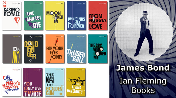 James Bond 007 (Set of 14) Ebook Collection - Ian Fleming - Books with Benefits