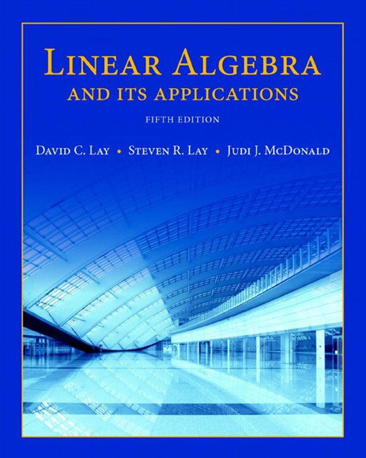 Linear Algebra and Its Applications 5th Edition by David C. Lay PDF