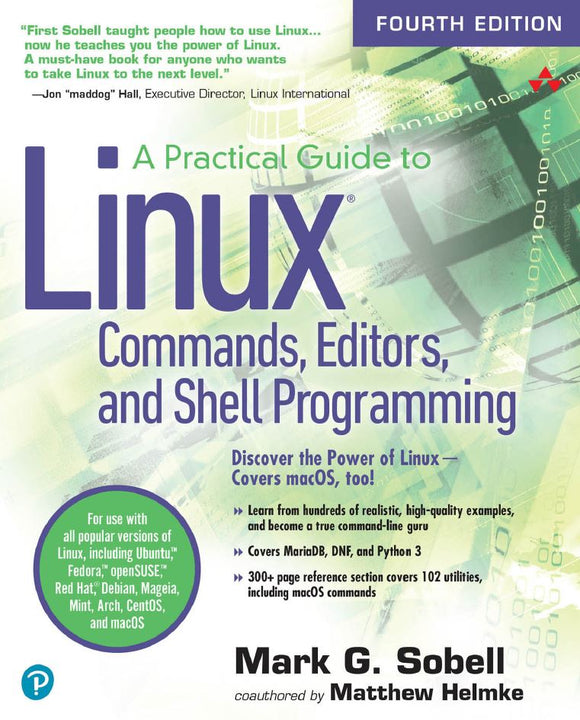 A Practical Guide to Linux Commands, Editors, and Shell Programming  4th Edition by Mark G. Sobell PDF - Books with Benefits
