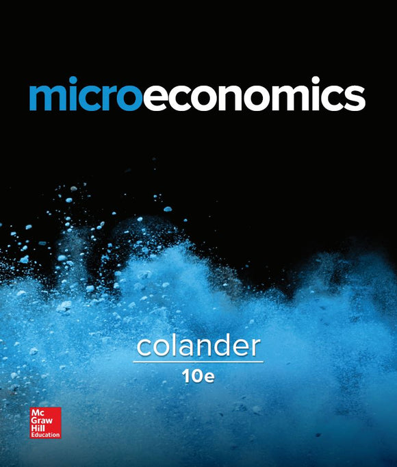 Microeconomics 10th Edition by David C Colander PDF - Books with Benefits