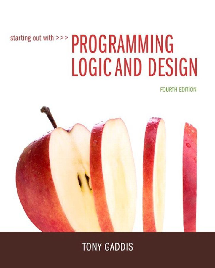 Starting Out with Programming Logic and Design 4th Edition by Tony Gaddis PDF