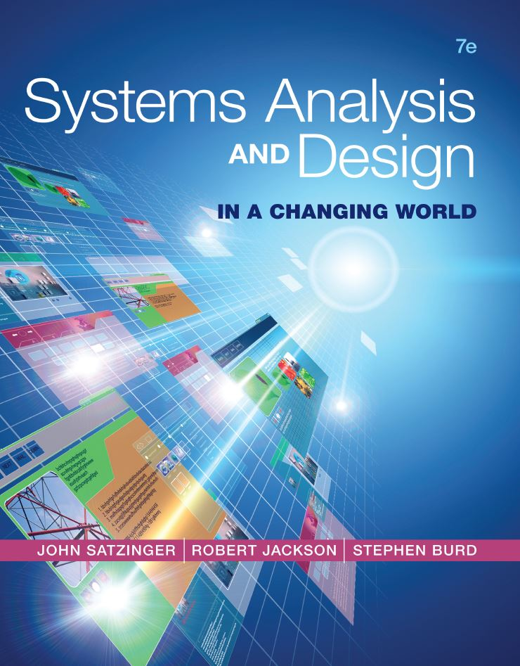 Systems Analysis and Design in a Changing World 7th Edition by John W. Satzinger PDF