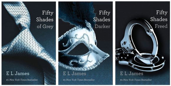 Fifty Shades of Grey, Darker, Freed Audiobooks by E.L James Unabridged - Books with Benefits