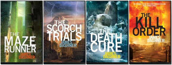 Maze Runner series Unabridged by James Dashner 4 Audiobooks - Books with Benefits