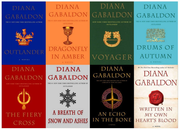 Diana Gabaldon : Outlander Series 1-8 Unabridged Audiobook Digital MP3 - Books with Benefits