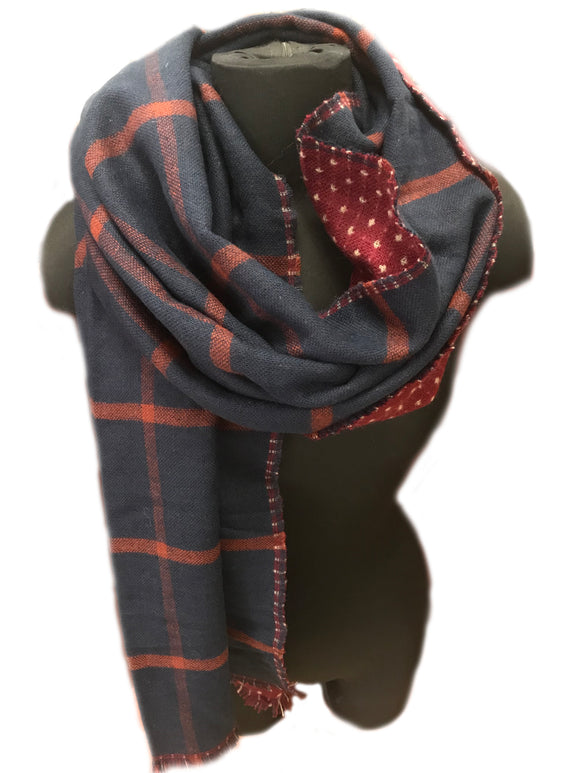 Red & Blue Plaid Scarf