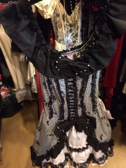 Bow Lolita dress black white