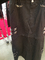 Striped skull long skirt