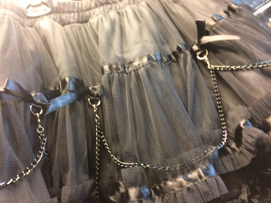 Black fancy lolita skirt