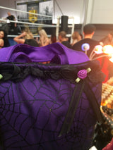 Purple spider purse