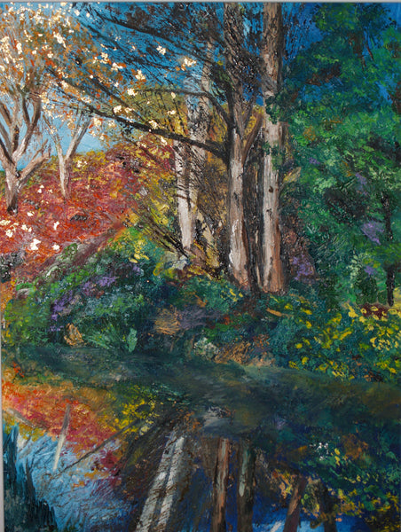 Colours along the canal giclee art print