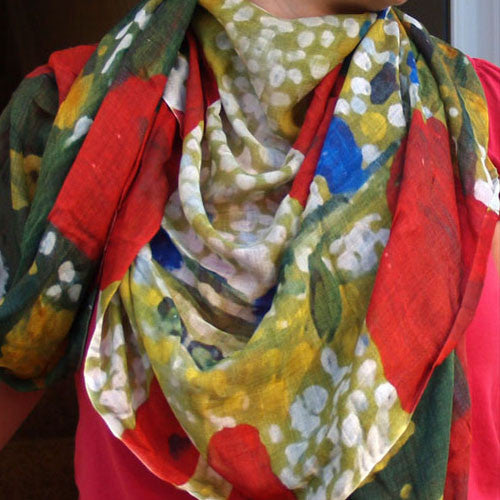 Modal Scarf Poppy Madness Floral Collection