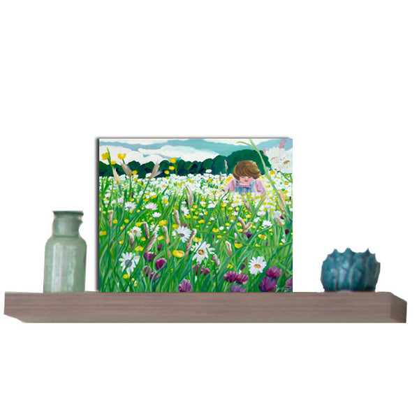 Floral landscape Greeting card - Catherine Bhogal Cwtch my Art