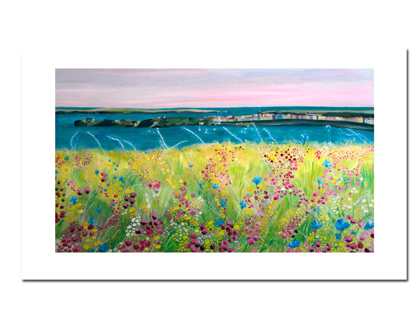 Floral Landscape Fine Art Print - Catherine Bhogal Cwtch my Art