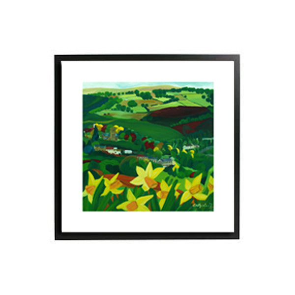 Framed How green is my valley art print