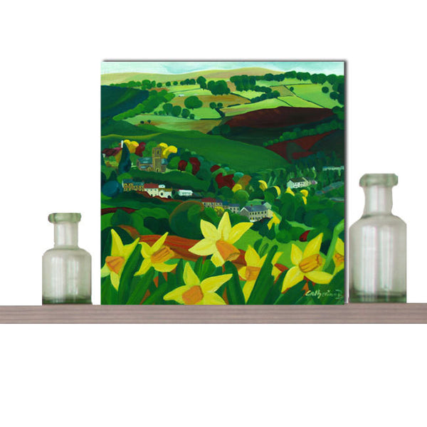 Greeting Art Card -'How green is my valley' designed by Catherine Bhogal