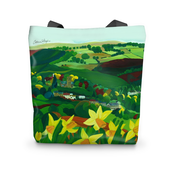 How green is my valley by Catherine Bhogal cushion Tote Bag