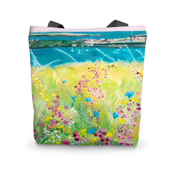 Floral landscape Tote Bag - Catherine Bhogal Cwtch my Art