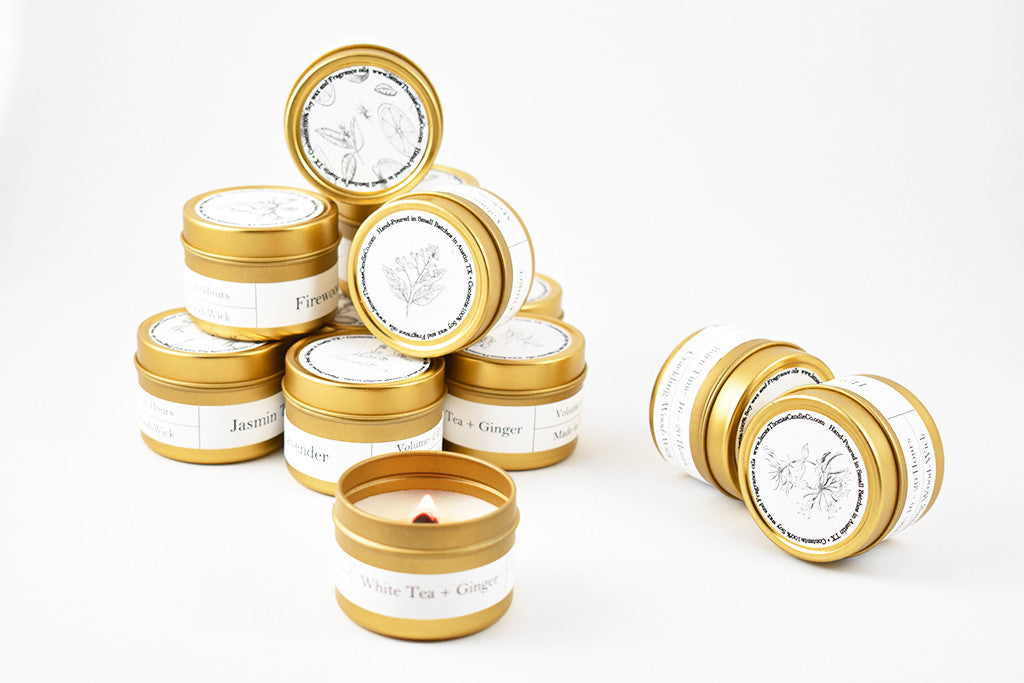 Gold Mini Travel Tin Soy Candle