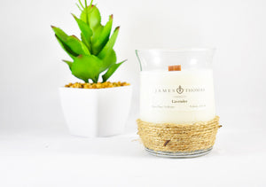 Lavender Wooden Wick Soy Candle
