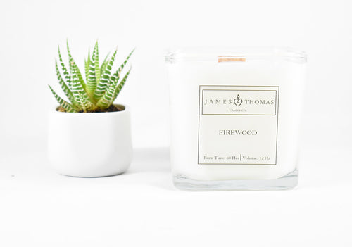 Firewood Wooden Wick Soy Candle