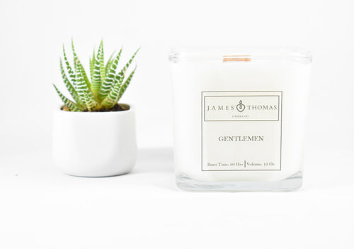 Gentlemen Wooden Wick Soy Candle