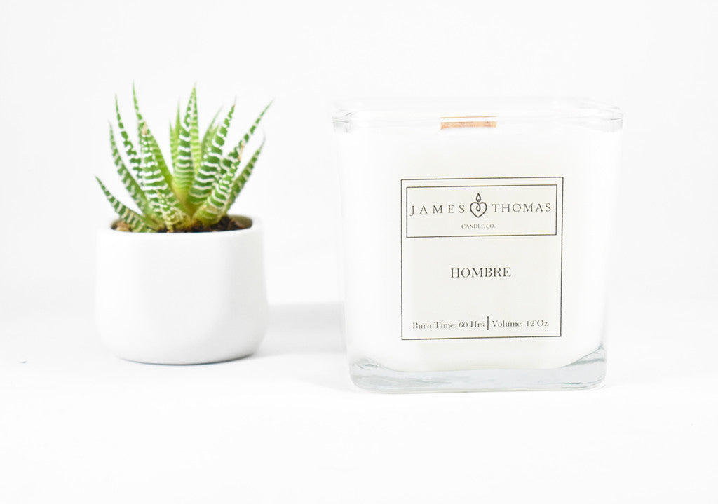 Hombre Wooden Wick Soy Candle