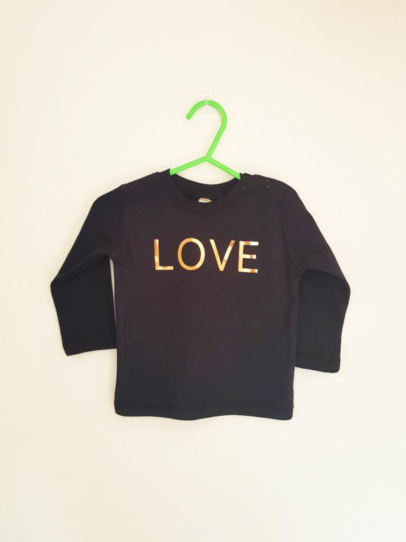 Baby Love long sleeve tee - Black - AH Boutique