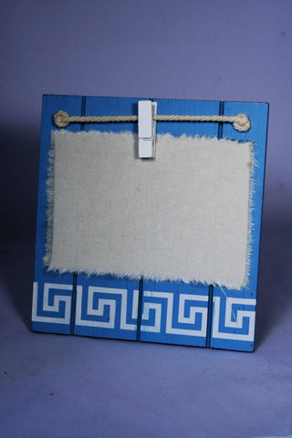 Bordered Wooden & Cloth Reminder block - Peg it !