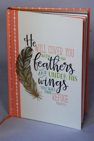 Prayer Journal-He will cover you with his feathers-Refuge!