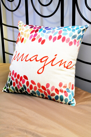 Throw pillow cover - Imagine!