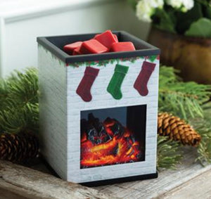 Holiday Fireplace Electric Wax Warmer