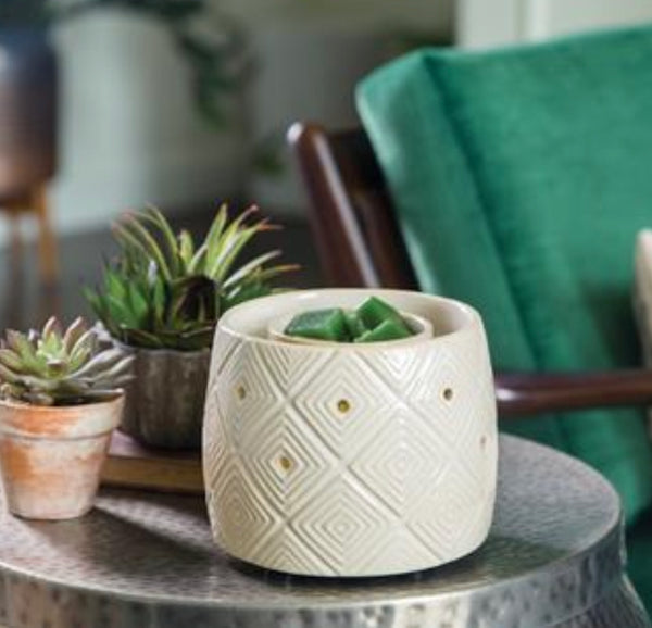 Geometric with FAN - Electric Wax Warmer, Wax Melter